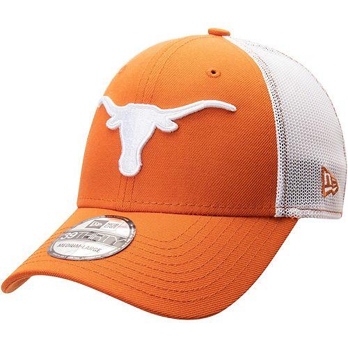 Men's New Era Texas Orange Texas Longhorns 39THIRTY Trucker Flex Hat