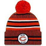 Men's New Era Orange/Navy Chicago Bears 2019 NFL Sideline Home Reverse Sport Knit Hat