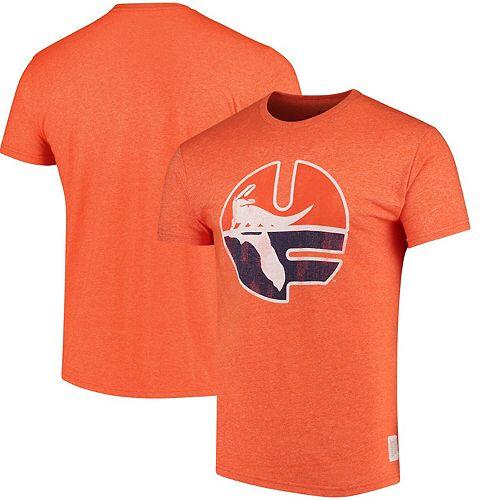 Men's Original Retro Brand Orange Florida Gators School Logo Mock Twist T-Shirt