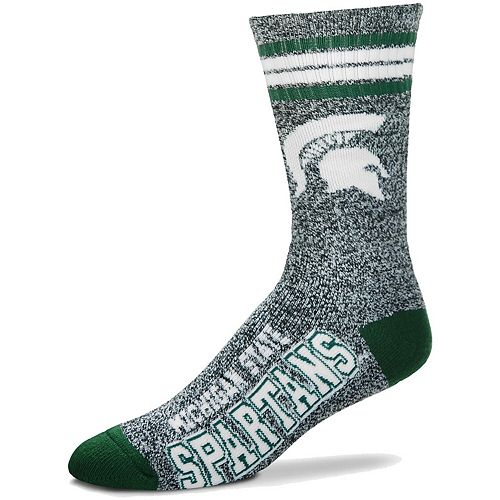 Men's For Bare Feet Gray Michigan State Spartans Got Marble Crew Socks