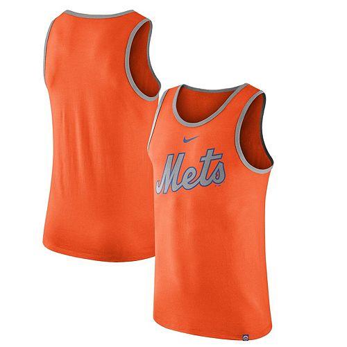 Men's Nike Orange New York Mets Wordmark Tank Top