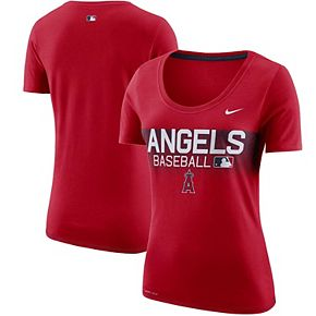 Women's Nike Red Los Angeles Angels Team Issue T-Shirt