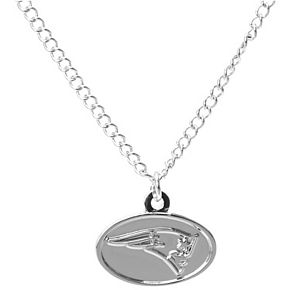 Women's WinCraft Silver New England Patriots Logo Necklace
