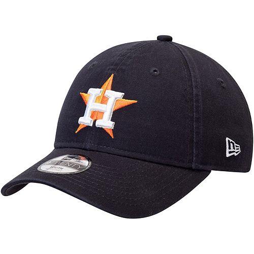 Youth New Era Navy Houston Astros Core Classic Replica 9TWENTY Adjustable Hat