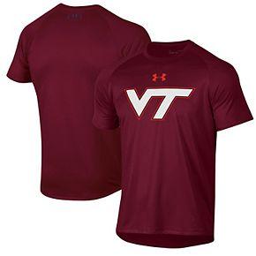 Men's Under Armour Maroon Virginia Tech Hokies School Logo Tech 2.0 Performance T-Shirt