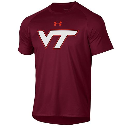 Men's Under Armour Maroon Virginia Tech Hokies School Logo Tech 2.0 Performance T-Shirt