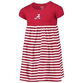 Girls Youth Garb Crimson Alabama Crimson Tide Lizia Stripe Dress