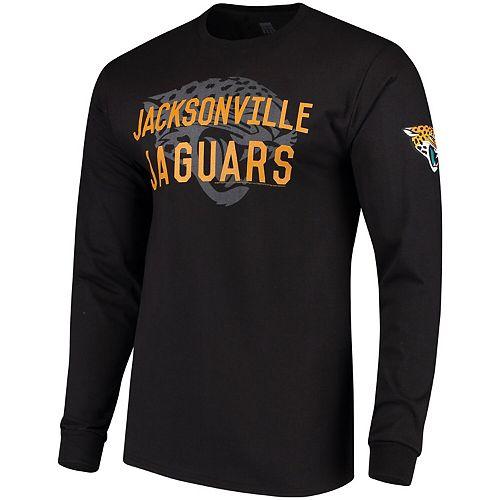 Men's Black Jacksonville Jaguars Fade Route Long Sleeve T-Shirt