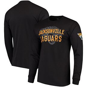 Men's Black Jacksonville Jaguars Fade Route Long Sleeve T-Shirt