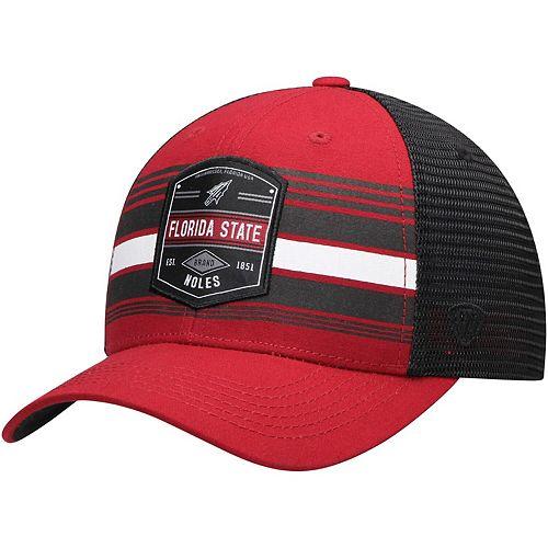 Men's Top of the World Garnet/Black Florida State Seminoles Branded Trucker Adjustable Snapback Hat