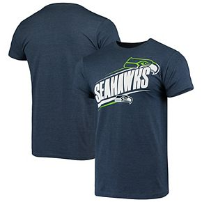 Men's G-III Sports by Carl Banks College Navy Seattle Seahawks Prime Time Wordmark T-Shirt