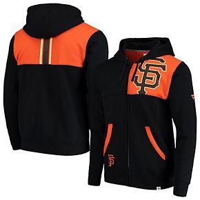 Men's Fanatics Branded Black/Orange San Francisco Giants Iconic Bold Full-Zip Hoodie