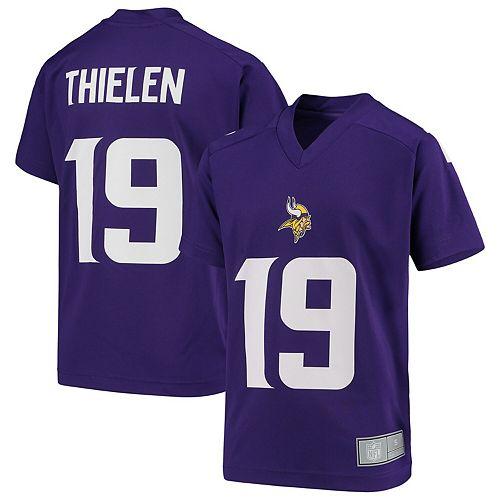 Youth Adam Thielen Purple Minnesota Vikings Player Name & Number V-Neck Top