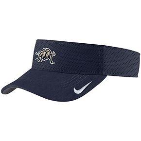 Men's Nike Navy Utah State Aggies Sideline Primary Logo Performance Visor