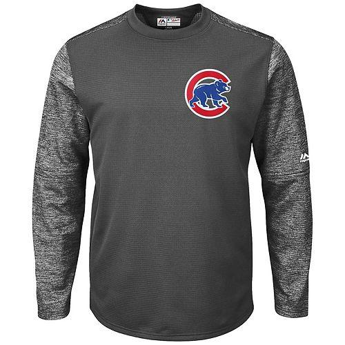 Men's Majestic Graphite Chicago Cubs Alternate Authentic Tech Fleece Pullover Sweatshirt