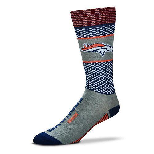 Women's For Bare Feet Denver Broncos Mojo Crew Socks