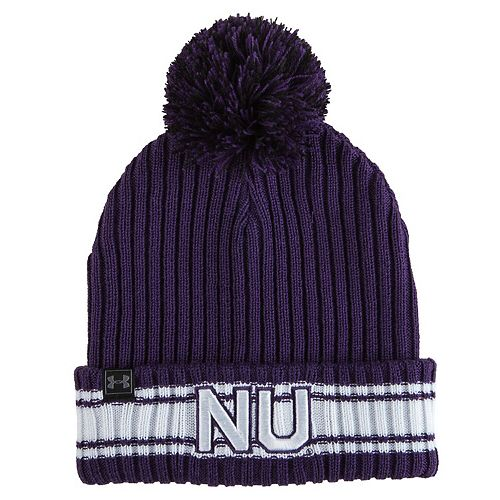 Men's Under Armour Purple Northwestern Wildcats 150 Seasons Fundamental Cuffed Knit Hat