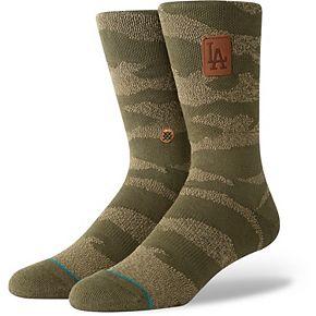 Los Angeles Dodgers Stance Utility Crew Socks - Camo