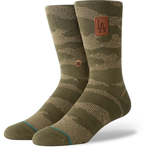Los Angeles Dodgers Stance Utility Crew Socks - Camo