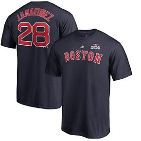 Men's Majestic J.D. Martinez Navy Boston Red Sox 2018 World Series Name & Number T-Shirt