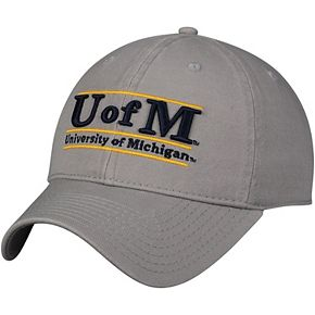 Men's The Game Gray Michigan Wolverines Classic Bar Unstructured Adjustable Hat