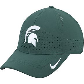 Youth Nike Green Michigan State Spartans Sideline Coaches Legacy 91 Performance Adjustable Hat