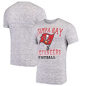 Men's G-III Sports by Carl Banks Gray Tampa Bay Buccaneers Outfield Speckle T-Shirt