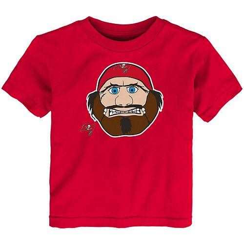 Toddler Red Tampa Bay Buccaneers Headshot T-Shirt