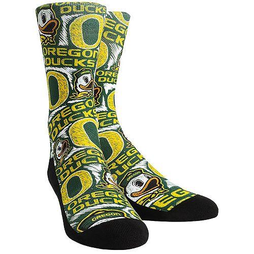 Women's Green Oregon Ducks Logo Sketch Crew Socks