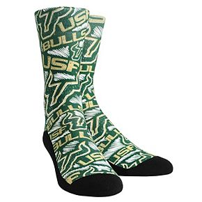 Youth Green South Florida Bulls Logo Sketch Crew Socks