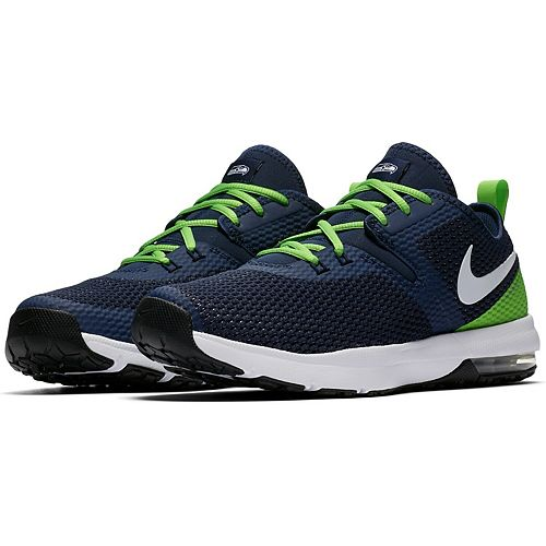 Men's Nike College Navy/Neon Green Seattle Seahawks Air Max Typha 2 Shoes