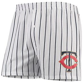 Men's Concepts Sport White Minnesota Twins Vigor Boxer Shorts