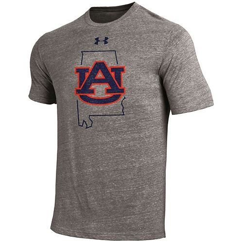 Men's Under Armour Gray Auburn Tigers Team Tri-Blend T-Shirt