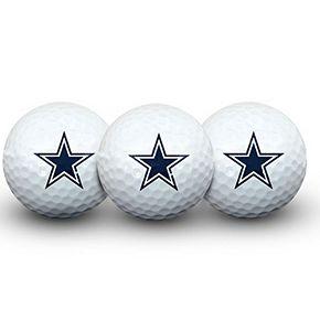 Dallas Cowboys Pack of 3 Golf Balls