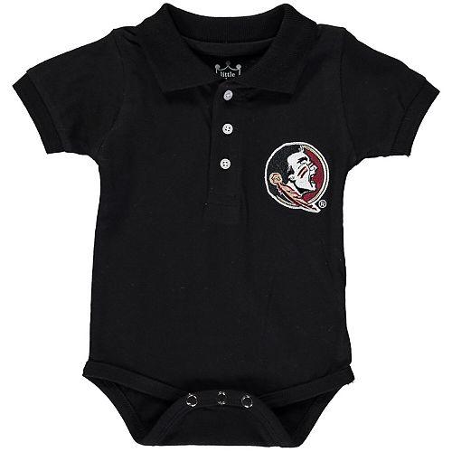 Infant Black Florida State Seminoles Polo Bodysuit