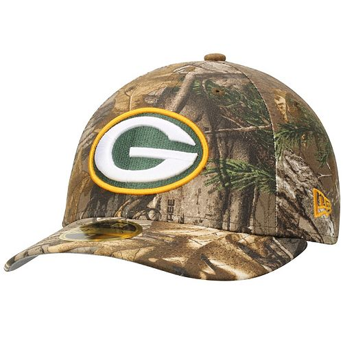Men's New Era Realtree Camo Green Bay Packers Low Profile 59FIFTY Hat