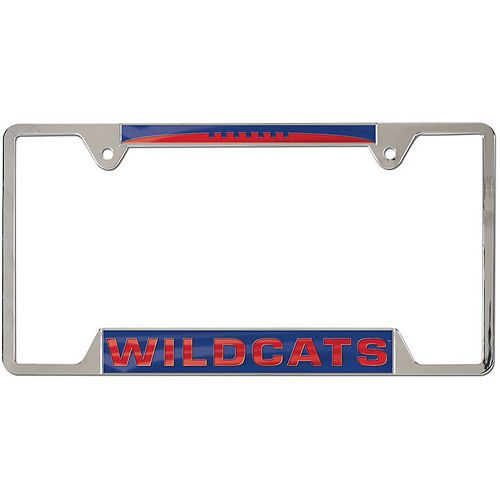 WinCraft Arizona Wildcats 4-Tab Style Inlaid Metal License Plate Frame