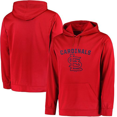 Men's Majestic Red St. Louis Cardinals Big & Tall Distressed Hoodie
