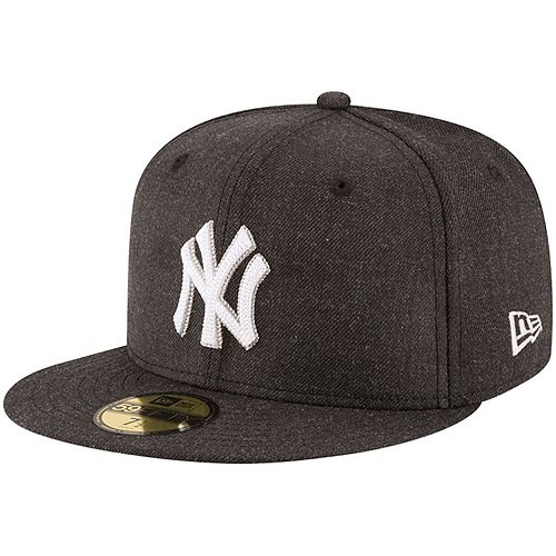 Men's New Era Heathered Black New York Yankees Crisp 59FIFTY Fitted Hat