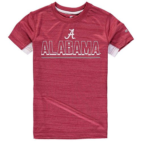 Youth Colosseum Crimson Alabama Crimson Tide Over the Fence Poly T-Shirt