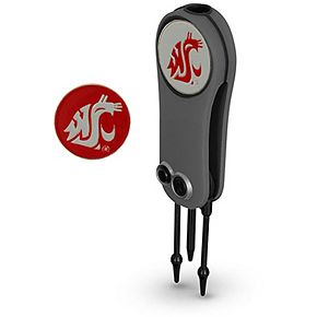 Washington State Cougars Switchblade Repair Tool & Two Ball Markers