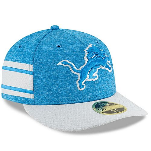 Men's New Era Blue/Gray Detroit Lions 2018 NFL Sideline Home Official Low Profile 59FIFTY Fitted Hat