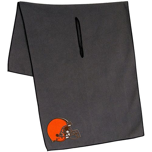 """Cleveland Browns 19"""" x 41"""" Gray Microfiber Towel"""