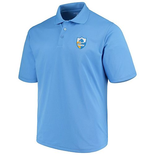 Men's Antigua Powder Blue Los Angeles Chargers Throwback Pique Polo
