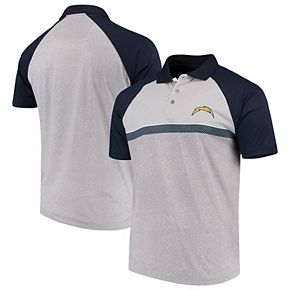 Men's Antigua Gray/Navy Los Angeles Chargers Momentum Polo