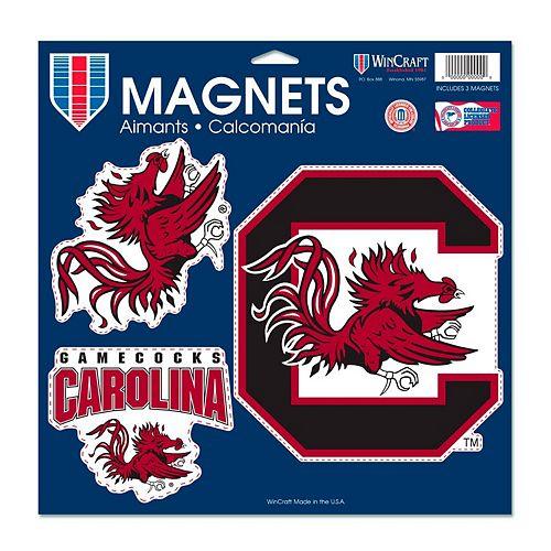 """WinCraft South Carolina Gamecocks 11"""" x 11"""" 3-Pack Car Magnet Set"""