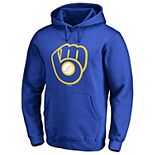 Men's Fanatics Branded Royal Milwaukee Brewers Primary Logo Pullover Hoodie