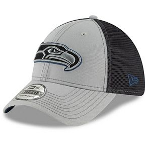 Men's New Era Gray/Graphite Seattle Seahawks Two-Tone Sided 39THIRTY Flex Hat