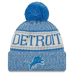 Youth New Era Blue Detroit Lions 2018 NFL Sideline Cold Weather Sport Knit Hat
