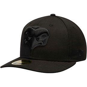 Men's New Era Black Seattle Seahawks Alternate Logo Bob Low Profile 59FIFTY Fitted Hat